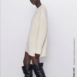 Zara Sweaters - Zara oversized purl knit sweater